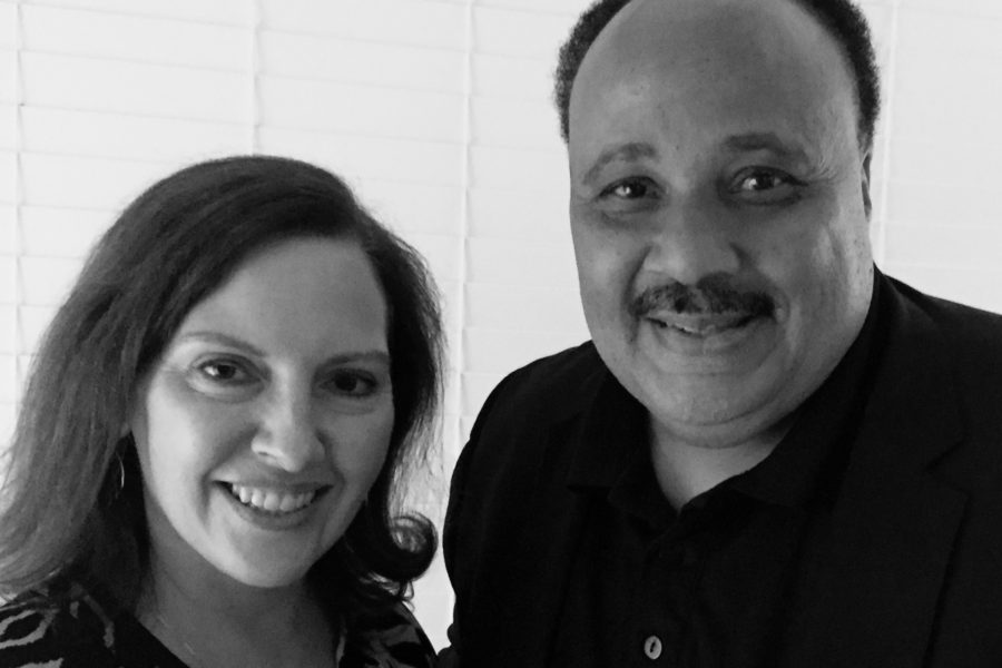 Linley with Martin Luther King, III