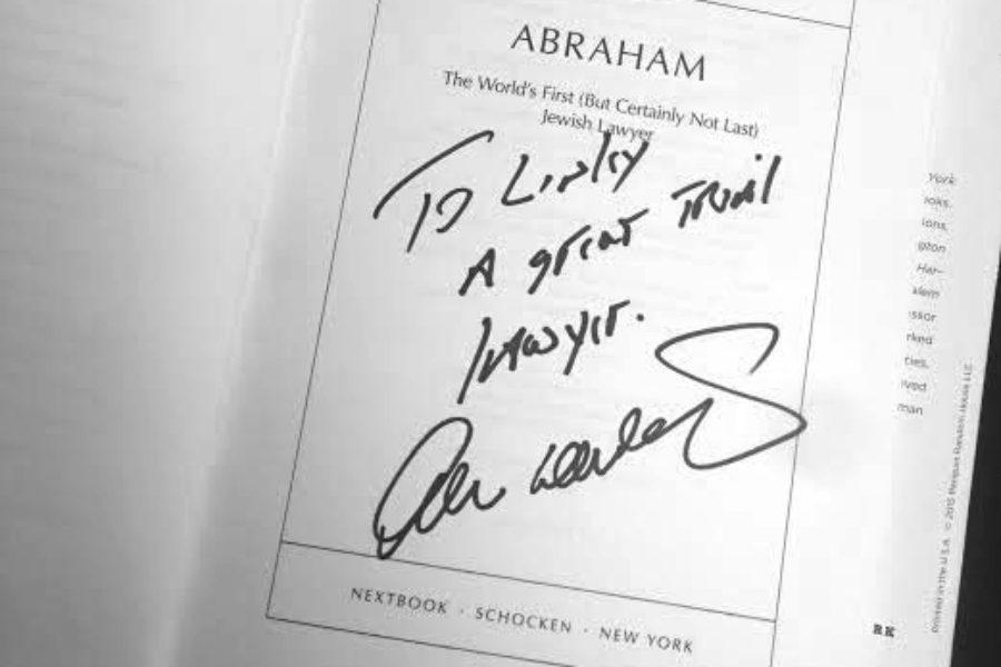 Personal Note from Harvard Law Professor Alan Dershowitz