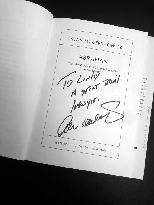 Personal Note from Alan Dershowitz