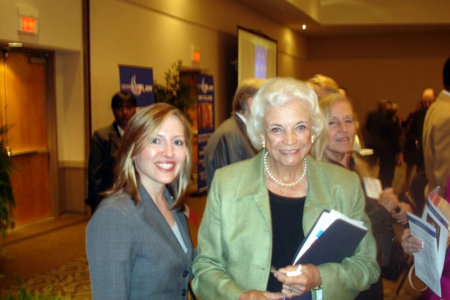 Linley with United States Supreme Court Justice Sandra Day O'Connor