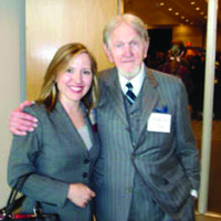 Linley Jones with trial lawyer Bobby Lee Cook